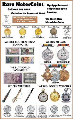 We buy all coins and notes, No R5 coins.