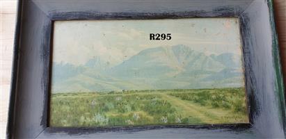Framed Vintage J Volschenk Print (455x310)