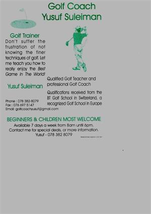Golf Training for Beginners and Children