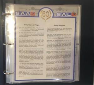 SAA 60 years of flight 45 signed FDC in original folder