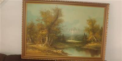Oil painting by G. Wilson in beautiful frame