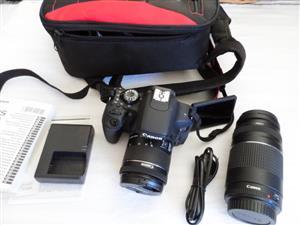 CANON 800D DSLR Twin Lens Camera Bundle LIKE NEW