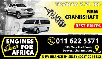 New Toyota Hilux / Quantum 2TR 2.7L 08- Crankshaft FOR SALE