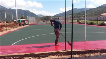BASKETBALL COURTS RESURFACING 0782269647 VOLLEYBALL COURTS  FENCING