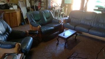 6 Seat Leather Lounge set