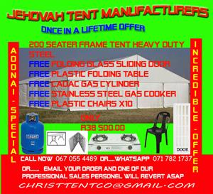 free tent ,free accessories ,free fold up table ,free cadac gas and cooker ,free sliding door