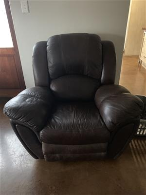 Full Leather Recliner for Sale