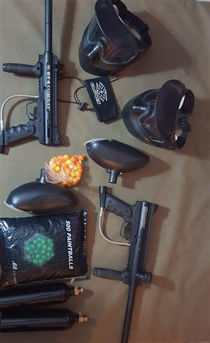Paintball Guns + Equipment