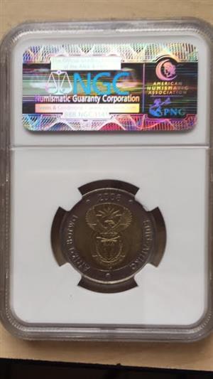 Four R5 Mandela 90th Birthday Coins for sale