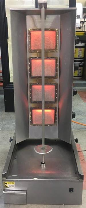 Gas 4 burners shawarma machine