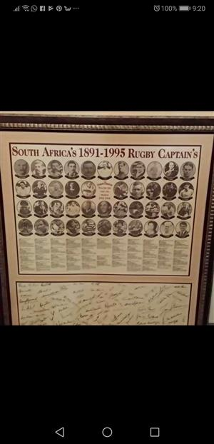 Springbok Rugby captains and signatures