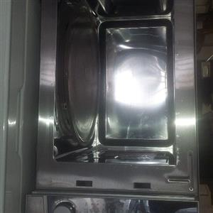 Defy 34 litres metallic silver microwave, grill and oven combo