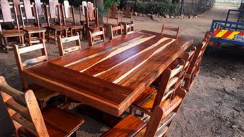 12 Seater Sleeper wood dining room set