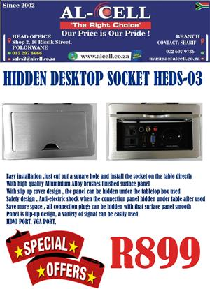 Hidden Desktop Socket