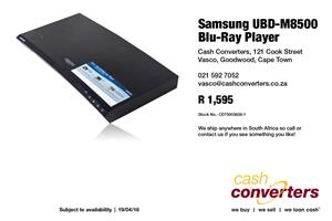 Samsung UBD-M8500 Blu-Ray Player