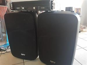 Hybrid speakers and amp
