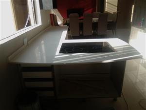 Granite kitchen tops and tombstone