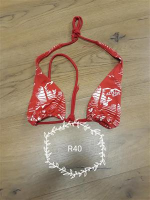 Red palm tree bikini top for sale