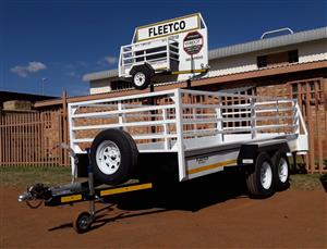 4M DOUBLE AXLE UTILITY TRAILER WITH BRAKES FOR SALE