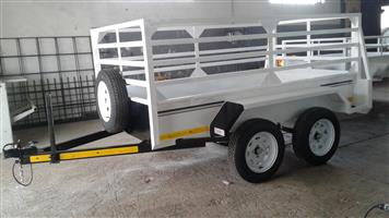 PLATE SIZE TRAILER DOUBLE AXLE UNBRAKED FOR SALE, BRAND NEW, ALL INCL