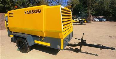 Atlas Copco 850CFM Mobile Air Compressor - 1370hrs