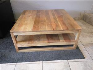 "Solid wood designer ""Crudo"" coffe table"