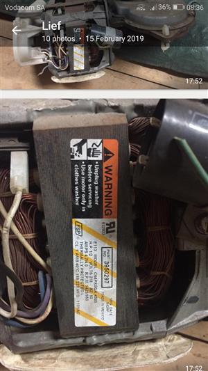 Whirlpool toploader motor,  gearbox and waterpump