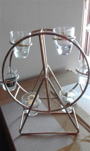 FERRIS WHEEL WITH REMOVABLE SHOT GLASSES - PERFECT FOR PARTIES AND BAR DISPLAY