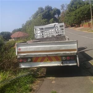 Accident damaged truck