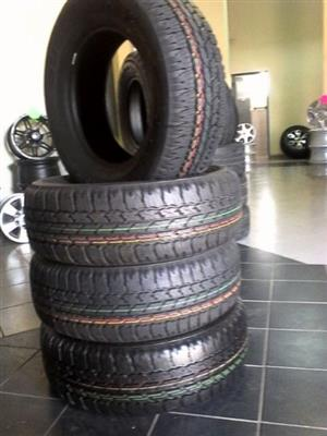 Brand new set of tyres for bakkies and SUV'S