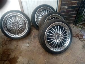 205/40/17 universal rims withe tyres still in good condition for sale