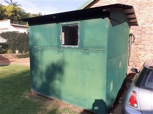 ALL STEEL 2.5 X 2.5 meter  ALL PURPOSE SHED