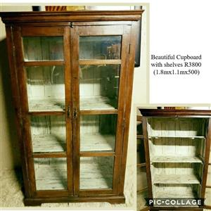 Beautiful cupboard with shelves
