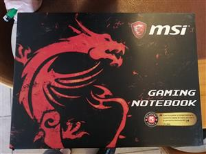 Msi gaming notebook Gen 7