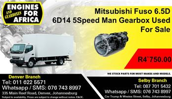 Mitsubishi Fuso 6.5D 6D14 5Speed Man Gearbox Used For Sale.