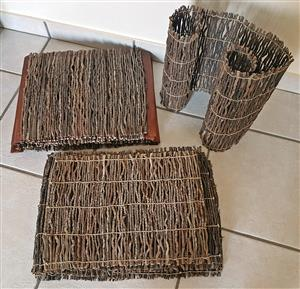 Wood Sticks - Table Placemats and Runner