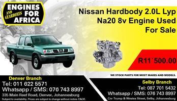 Nissan Hardbody 2.0L Lyp Na20 8v Engine Used For Sale.