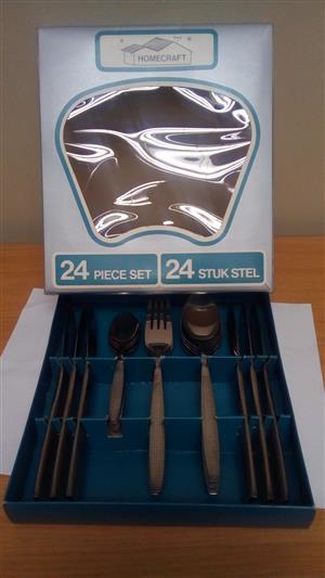 Homecraft 24 Piece Stainless Steel Cutlery Set