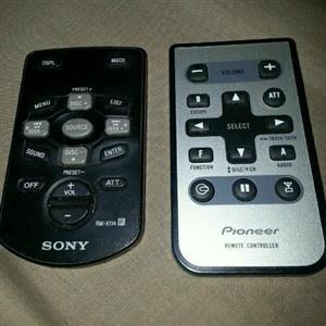 Car radio remotes