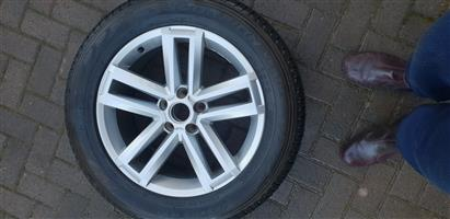 Amarok 19 inch mag and tyre to swop