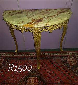 Antique Marble top hall table for sale .