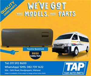 Toyota Quantum Cubby Hole - Taxi Auto Parts quality used spares - TAP