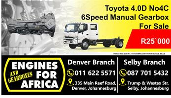 Used No4C Dyna 4.0D 04-09 Maual 6speed Gearbox For Sale