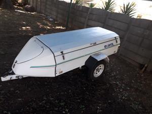 Small white trailer for sale