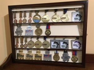 Wooden Medal Cabinet