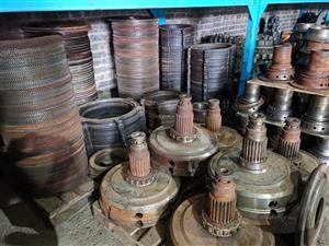 Komatsu machines transmissions parts.
