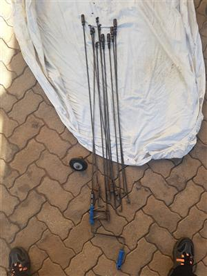 13x Piece Steel Drain Rod set for only R1000