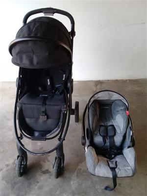 Recaro pram, bassinet, car seat and isofix