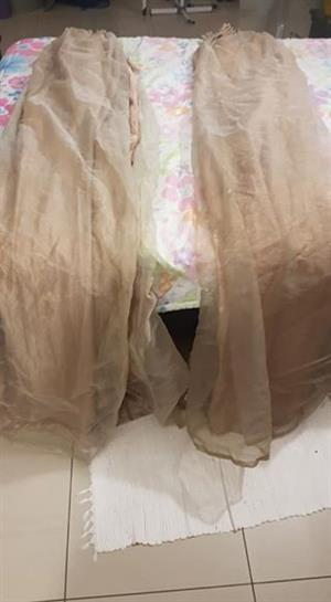 Brown lace curtains for sale