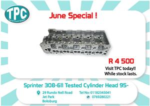 Mercedes Benz Sprinter 308/611 Tested Cylinder Head 95- New for Sale at TPC